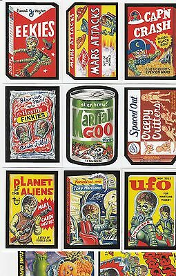 MARS ATTACKS OCCUPATION 11 CARD PROMO SET WACKY PACKAGES + GARBAGE PAIL KIDS