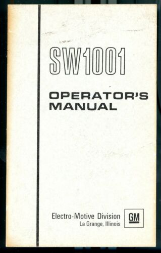 RR SW1001 Operating Manual