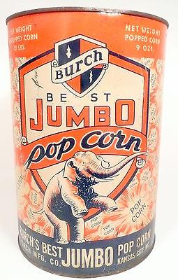 1950s Burch Popcorn Machine 10 Lb Empty Popcorn Can 3 - Export Pa Theatre