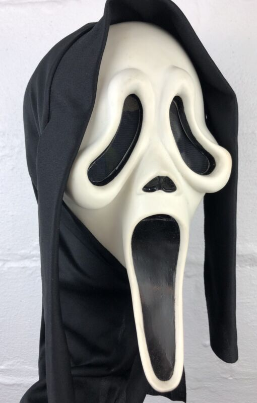 RARE Vintage Easter Unlimited SCREAM Ghostface Mask MK Stamp GLOWS Fun World RDS