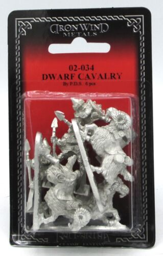 Ral Partha 02-034 Dwarf Cavalry (Set of 3) Ram Riders Mounted Dwarven Raiders