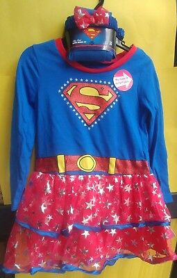 Baby Girl Toddler SuperGirl Child Costume Halloween Party Dress-up