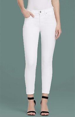 Citizens of Humanity Rocket Crop High Rise Skinny Jeans Optic White Denim sz 30