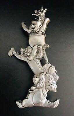 Winnie the Pooh Bear Tigger Piglet Eeyore Honey Hunny Silver Lapel Hat Pin