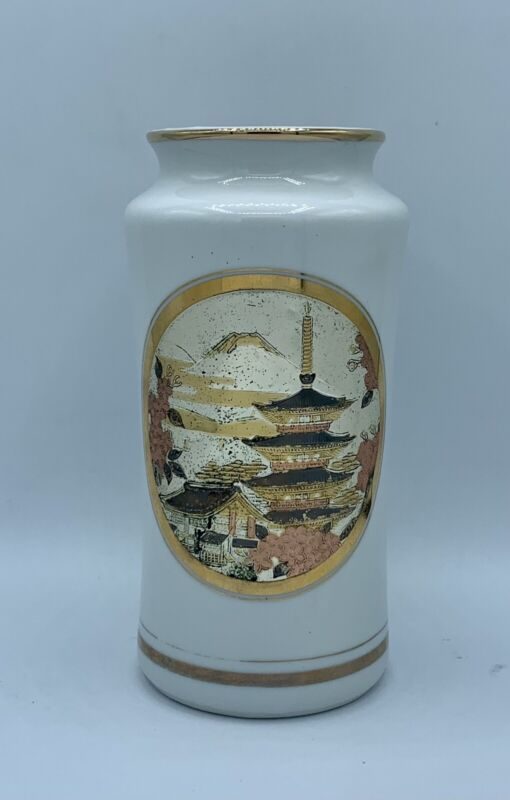 The Art of CHOKIN Hand Art Engraving Gold /Silver GiIded Porcelain Vase Japan