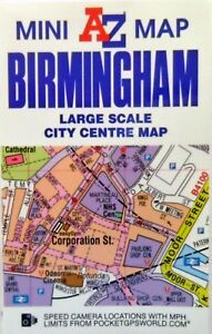 Birmingham A-Z Map Mini Sheet City Centre Street Sheet Folded - New For Students