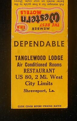 1950s Tanglewood Lodge Best Western Restaurant Route 80 Shreveport LA