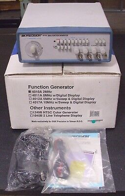 2005 Bk Precision 4010a 2 Mhz Function Generator Used Twice In The Box Complete