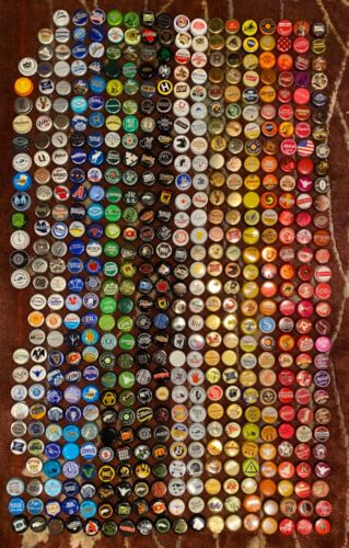 510+ ASSORTED BEER BOTTLE CAPS ( Each Different) Many Colors!!!