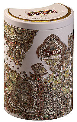 Basilur Tea - White Moon - Milk Oolong Green Tea- 100g Tin Caddy