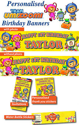 Personalised Team Umizoomi Birthday Party Supplies decorations (Team Umizoomi Party Decorations)