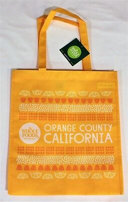 Whole Foods Market Reusable Bag Orange County California Eco Friendly Tote