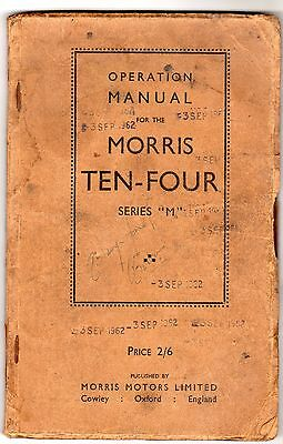 Morris Ten Four Series M - Operation Manual 1946 Edition