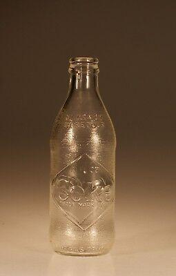 Vintage Canadian Dominion Glass Crystal Coke Bottle Diamond   Stippled C 1960