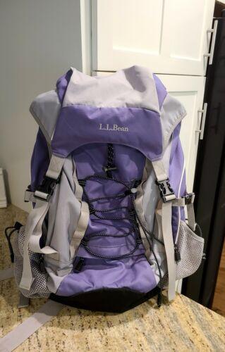 LL Bean  H2O Frame Backpack Hunting Camping Hiking Purple Gray