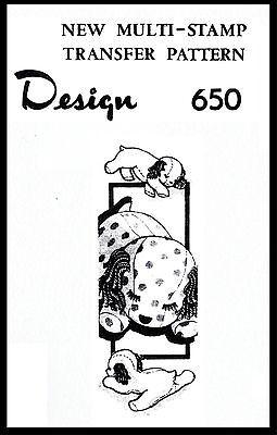 "Stuffed Animal Dog Sleepy Puppy Material Fabric Sew Pattern 11"" Design # 650 TOY"