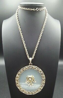 60s -70s Jewelry – Necklaces, Earrings, Rings, Bracelets Vintage Rose Pendant Necklace 1960's 1970's $33.99 AT vintagedancer.com