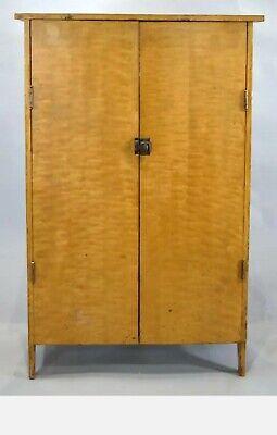 2 Door Painted Cupboard - ANTIQUE ◇ 19TH CENTURY GRAIN PAINTED 2 DOOR CUPBOARD ◇ 42