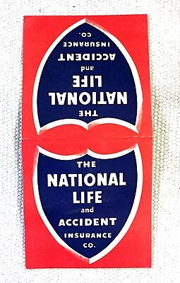 Vintage National Life Insurance Hand Sewing Needle Book 50's Advertising JSN34