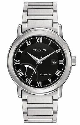 Citizen Eco-Drive Men's AW7020-51E Black Dial Roman Numeral Markers 41mm Watch