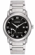 Citizen Eco-Drive Men's Silver-Tone Roman Numeral Indices 41mm Watch AW7020-51E