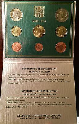 Vatican Euro Coin Set 2010 8 Euro Coins