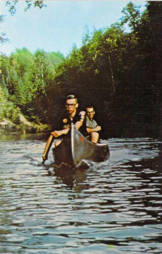 MI Alger RIFLE RIVER BOY SCOUTS OF AMERICA Canoe Base 1966 (M) postcard B6