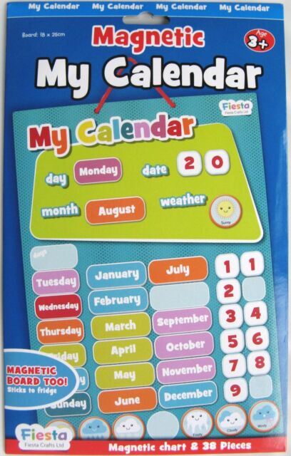 FIESTA CRAFTS MAGNETIC MY CALENDAR - BLUE - NEW STYLE - BRAND NEW!!