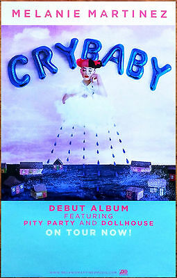 Melanie Martinez Cry Baby Ltd Ed Rare Poster  Free Indie Pop Poster  Dollhouse