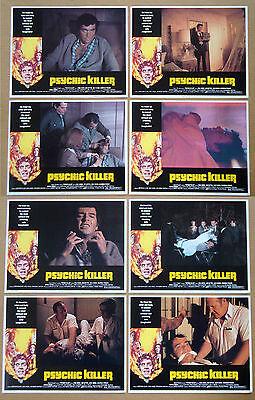 PSYCHIC KILLER Jim Hutton JULIE ADAMS Paul Burke 11x14 LOBBY CARD SET of 8
