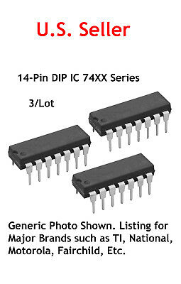 7408 TTL 14 Pin DIP IC: Quad 2-Input And Gate: 3/Lot