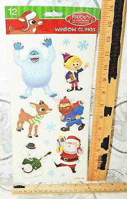 RUDOLPH THE RED NOSED REINDEER FROM TV CARTOON MOVIE WINDOW CLINGS HOLIDAY NEW