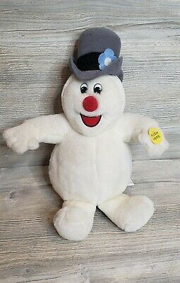 """Gemmy Animated Frosty The Snowman Singing Christmas Plush 2001 11"""""""