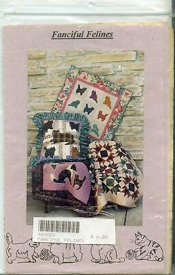 Fanciful Felines Going to the Dogs Quilt Patterns Quilt Wall Pillow Table-piece