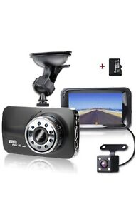 Dash cam front and rear with 16GB micro sd