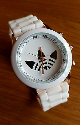 "Unisex Wrist Watch Great Gift ""3 Clover Leaf"" Silicone Jelly Quartz Sport Watch"