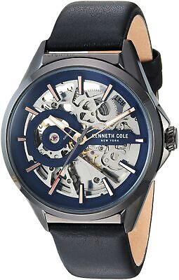 Kenneth Cole New York Men's Automatic Stainless Steel & Leather Watch KC50923002