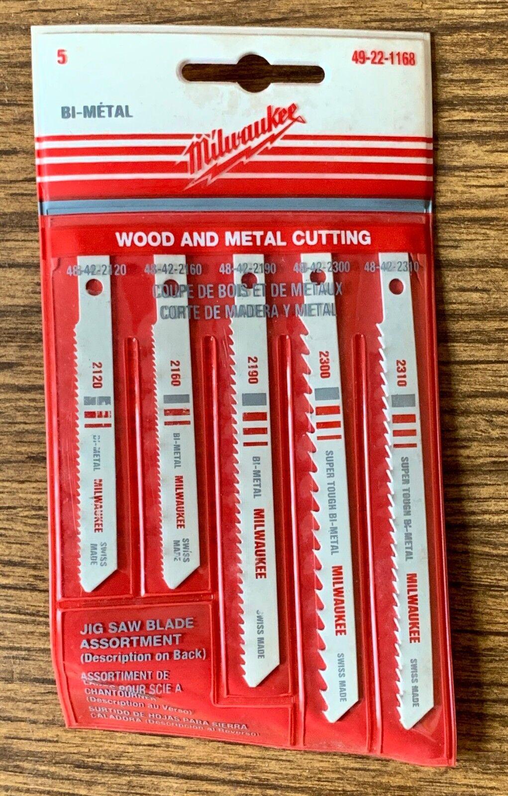 Milwaukee Bi Metal Jig Saw Blades Wood and Metal Cutting 49 22 1168 Pack of 5