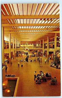 Midtown Shopping Mall Midtown Plaza Clinton Avenue Rochester NY Postcard (Clinton Mall)