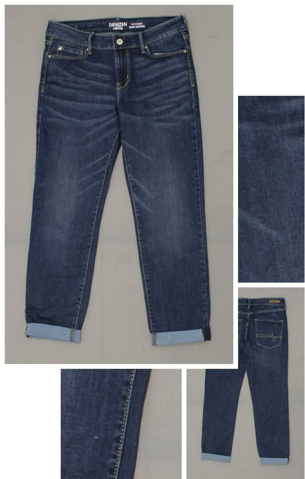 fc44259b New Denizen from Levi's Women's Mid-Rise Modern Slim Cuffed Jeans View  Image Full Size