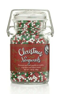 Christmas NonPareils (Or Dots) for Baking & Decorating Baked Goods ()