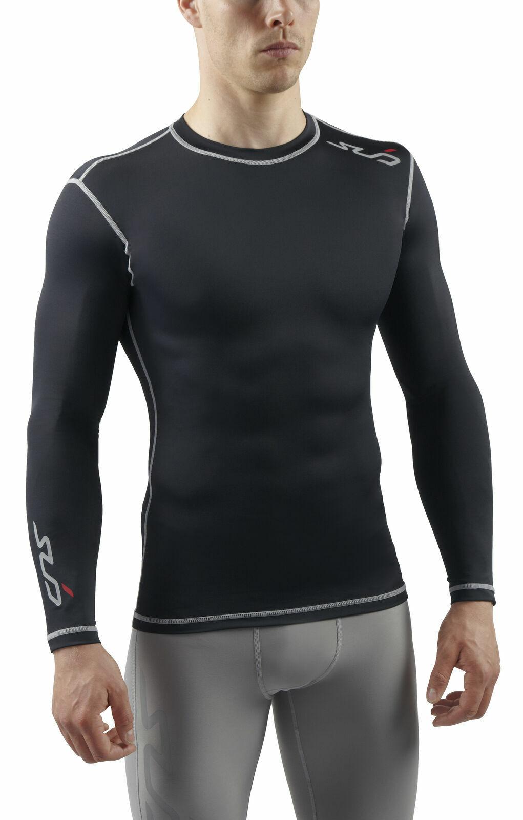 SUB Sports DUAL Mens Compression Shirt Long Sleeve All