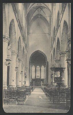 "oude postkaart van Audenarde Interieur de L""Eglise St-Walburge,zie foto""s;; B47,"
