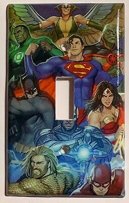 DC Superhero Super heroes Light Switch Power Outlet Wall Cover Plate Home decor](Superhero Lights)