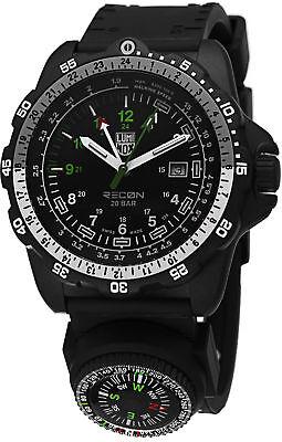 Black Rubber Watch - Luminox Men's 8832.MI Recon NAV SPC Compass GMT Black Rubber Watch 8832.MI.L