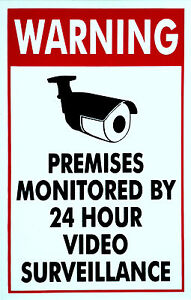 Home CCTV Surveillance Security Camera Video Warning Decal Signs