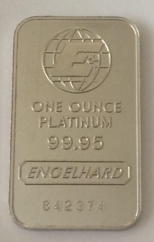 Engelhard 1 ounce .999 Fine Platinum Bar / Ingot