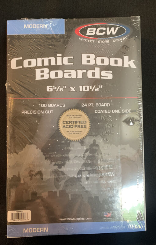 10 Packs of 100 (1000)  High Quality BCW Current Comic Backing Boards