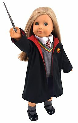 Ebuddy Hermione Granger- Inspired Doll Clothes Shoes for Ame