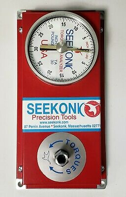 Seekonk Precision Tools Ta-30 Torque Tester 14 Socket Drive